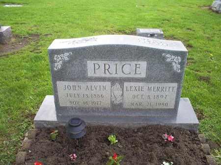 PRICE, JOHN ALVIN - Ross County, Ohio | JOHN ALVIN PRICE - Ohio Gravestone Photos