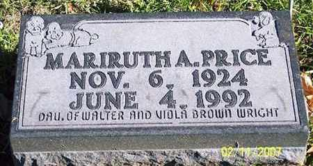 WRIGHT PRICE, MARIRUTH A. - Ross County, Ohio | MARIRUTH A. WRIGHT PRICE - Ohio Gravestone Photos