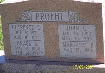 PROEHL, GRACE B. - Ross County, Ohio | GRACE B. PROEHL - Ohio Gravestone Photos