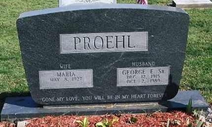 PROEHL, GEORGE E. SR. - Ross County, Ohio   GEORGE E. SR. PROEHL - Ohio Gravestone Photos