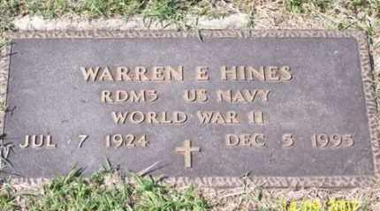 HINES, WARREN E. - Ross County, Ohio | WARREN E. HINES - Ohio Gravestone Photos