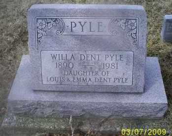 PYLE, WILLA DENT - Ross County, Ohio | WILLA DENT PYLE - Ohio Gravestone Photos