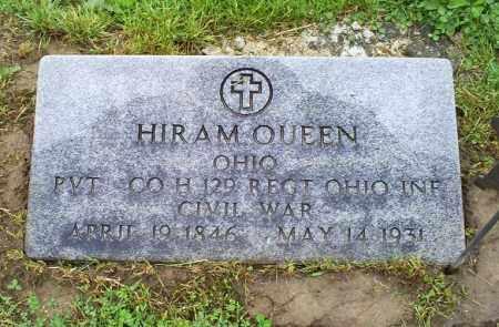 QUEEN, HIRAM - Ross County, Ohio | HIRAM QUEEN - Ohio Gravestone Photos