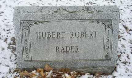 RADER, HUBERT ROBERT - Ross County, Ohio   HUBERT ROBERT RADER - Ohio Gravestone Photos