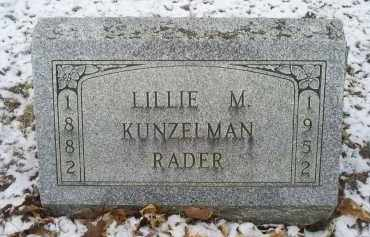 RADER, LILLIE M. - Ross County, Ohio | LILLIE M. RADER - Ohio Gravestone Photos