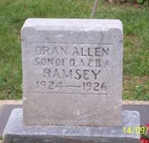 RAMSEY, ORAN ALLEN - Ross County, Ohio   ORAN ALLEN RAMSEY - Ohio Gravestone Photos