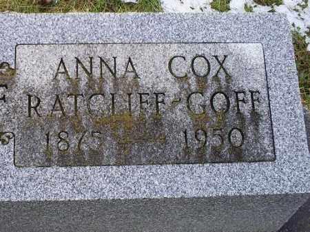 RATCLIFF-GOFF, ANNA - Ross County, Ohio | ANNA RATCLIFF-GOFF - Ohio Gravestone Photos