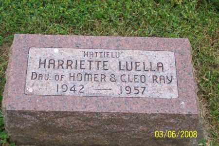 "RAY, HARRIETTE LUELLA ""HATTIELU"" - Ross County, Ohio | HARRIETTE LUELLA ""HATTIELU"" RAY - Ohio Gravestone Photos"