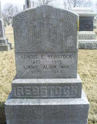 ALBIN REBSTOCK, LINNIE - Ross County, Ohio | LINNIE ALBIN REBSTOCK - Ohio Gravestone Photos