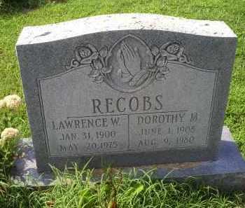 RECOBS, DOROTHY M. - Ross County, Ohio | DOROTHY M. RECOBS - Ohio Gravestone Photos