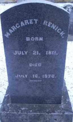 RENICK, MARGARET - Ross County, Ohio   MARGARET RENICK - Ohio Gravestone Photos