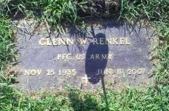 RENKEL, GLENN W. - Ross County, Ohio | GLENN W. RENKEL - Ohio Gravestone Photos