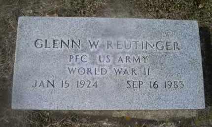 REUTINGER, GLENN W. - Ross County, Ohio   GLENN W. REUTINGER - Ohio Gravestone Photos