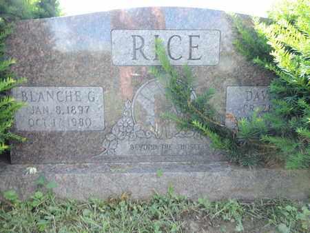 RICE, BLANCHE G. - Ross County, Ohio | BLANCHE G. RICE - Ohio Gravestone Photos