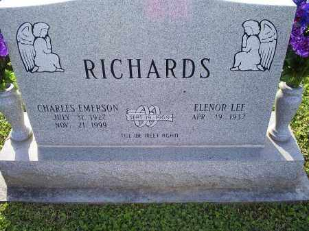 RICHARDS, CHARLES EMERSON - Ross County, Ohio | CHARLES EMERSON RICHARDS - Ohio Gravestone Photos