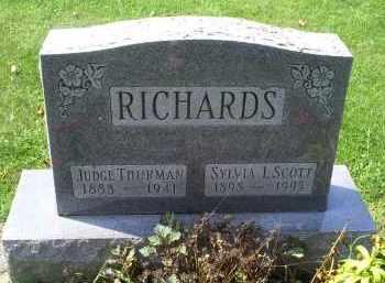RICHARDS, SYLVIA I. - Ross County, Ohio   SYLVIA I. RICHARDS - Ohio Gravestone Photos