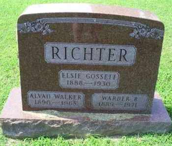 RICHTER, ALVAH - Ross County, Ohio | ALVAH RICHTER - Ohio Gravestone Photos