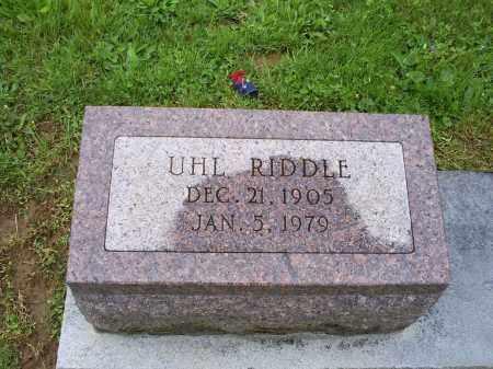 RIDDLE, UHL - Ross County, Ohio | UHL RIDDLE - Ohio Gravestone Photos