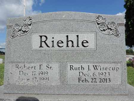 WISECUP RIEHLE, RUTH J. - Ross County, Ohio | RUTH J. WISECUP RIEHLE - Ohio Gravestone Photos