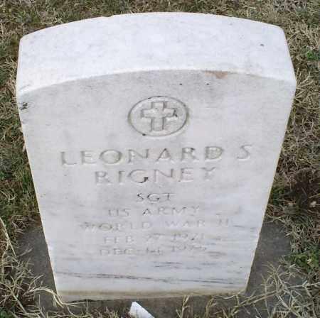 RIGNEY, LEONARD S. - Ross County, Ohio   LEONARD S. RIGNEY - Ohio Gravestone Photos