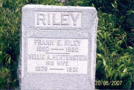 HERTENSTEIN RILEY, NELLIE A. - Ross County, Ohio | NELLIE A. HERTENSTEIN RILEY - Ohio Gravestone Photos