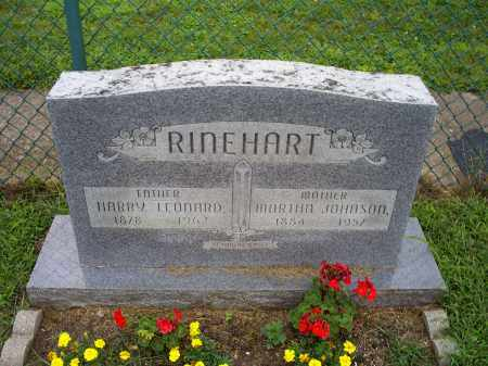RINEHART, MARTHA - Ross County, Ohio   MARTHA RINEHART - Ohio Gravestone Photos