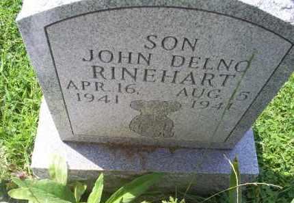 RINEHART, JOHN DELNO - Ross County, Ohio   JOHN DELNO RINEHART - Ohio Gravestone Photos