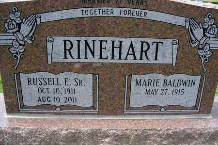 RINEHART, MARIE - Ross County, Ohio | MARIE RINEHART - Ohio Gravestone Photos
