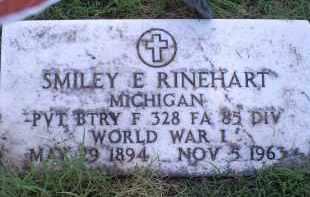 RINEHART, SMILEY E. - Ross County, Ohio   SMILEY E. RINEHART - Ohio Gravestone Photos
