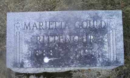 GOULD RITTENOUR, MARIETTA - Ross County, Ohio   MARIETTA GOULD RITTENOUR - Ohio Gravestone Photos