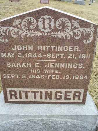 JENNINGS RITTINGER, SARAH E. - Ross County, Ohio | SARAH E. JENNINGS RITTINGER - Ohio Gravestone Photos