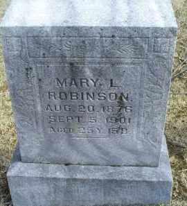 ROBINSON, MARY L. - Ross County, Ohio | MARY L. ROBINSON - Ohio Gravestone Photos