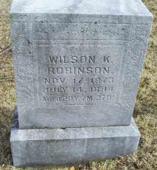 ROBINSON, WILSON K. - Ross County, Ohio   WILSON K. ROBINSON - Ohio Gravestone Photos