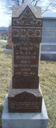 RODGERS, MYRTLE ALICE - Ross County, Ohio | MYRTLE ALICE RODGERS - Ohio Gravestone Photos