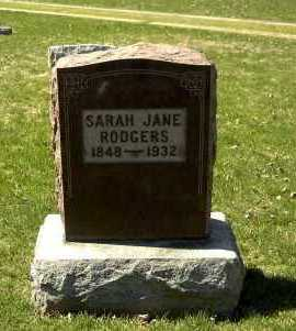 RODGERS, SARAH JANE - Ross County, Ohio | SARAH JANE RODGERS - Ohio Gravestone Photos