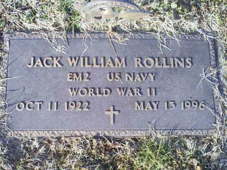 ROLLINS, JACK WILLIAM - Ross County, Ohio   JACK WILLIAM ROLLINS - Ohio Gravestone Photos