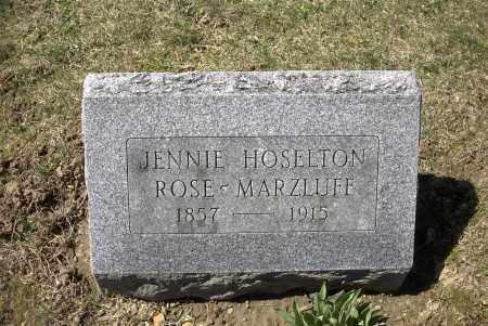 ROSE-MARZLUFF, JENNIE - Ross County, Ohio | JENNIE ROSE-MARZLUFF - Ohio Gravestone Photos