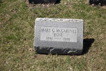 MCCARTNEY ROSE, MARY - Ross County, Ohio | MARY MCCARTNEY ROSE - Ohio Gravestone Photos