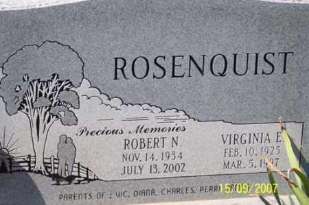 ROSENQUIST, ROBERT N. - Ross County, Ohio | ROBERT N. ROSENQUIST - Ohio Gravestone Photos