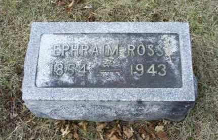 ROSS, EPHRAIN - Ross County, Ohio | EPHRAIN ROSS - Ohio Gravestone Photos