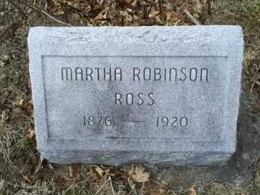 ROBINSON ROSS, MARTHA - Ross County, Ohio | MARTHA ROBINSON ROSS - Ohio Gravestone Photos