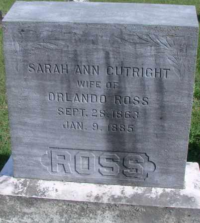 ROSS, SARAH ANN - Ross County, Ohio | SARAH ANN ROSS - Ohio Gravestone Photos