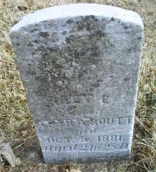 ROUTT, OLEY E. - Ross County, Ohio | OLEY E. ROUTT - Ohio Gravestone Photos