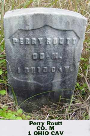 ROUTT, PERRY - Ross County, Ohio | PERRY ROUTT - Ohio Gravestone Photos