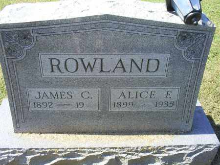 ROWLAND, ALICE F. - Ross County, Ohio | ALICE F. ROWLAND - Ohio Gravestone Photos