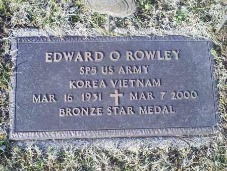 ROWLEY, EDWARD O. - Ross County, Ohio   EDWARD O. ROWLEY - Ohio Gravestone Photos