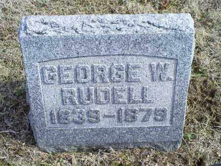 RUDELL, GEORGE W. - Ross County, Ohio | GEORGE W. RUDELL - Ohio Gravestone Photos