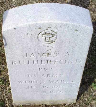 RUTHERFORD, JAMES A. - Ross County, Ohio | JAMES A. RUTHERFORD - Ohio Gravestone Photos