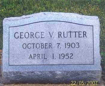 RUTTER, GEORGE V. - Ross County, Ohio | GEORGE V. RUTTER - Ohio Gravestone Photos