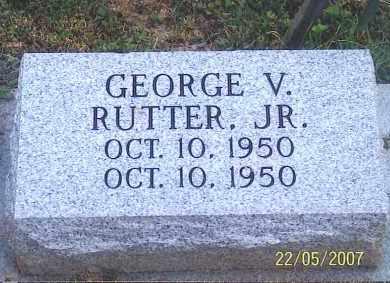 RUTTER JR., GEORGE V. - Ross County, Ohio | GEORGE V. RUTTER JR. - Ohio Gravestone Photos